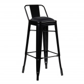 High Stool with LIX Steel Backrest, thumbnail image 4