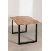 Rectangular Dining Table in Recycled Wood 160 cm Sami, thumbnail image 2