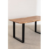 Rectangular Dining Table in Recycled Wood 160 cm Sami, thumbnail image 3