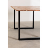 Rectangular Dining Table in Recycled Wood 160 cm Sami, thumbnail image 4