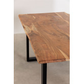 Rectangular Dining Table in Recycled Wood 160 cm Sami, thumbnail image 5