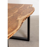 Rectangular Dining Table in Recycled Wood 160 cm Sami, thumbnail image 6