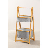Yvet Bamboo Shelf with 2 Baskets, thumbnail image 1