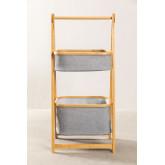 Yvet Bamboo Shelf with 2 Baskets, thumbnail image 2