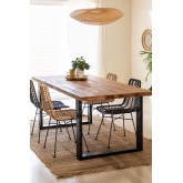 Milet Recycled Wood Dining Table, thumbnail image 1