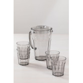 Set of 1 Jug 1,6L and 4 Glasses in Methacrylate Brenda, thumbnail image 2