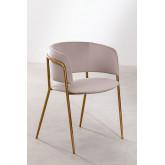 Nalon Style Velvet Dining Chair , thumbnail image 2