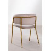 Nalon Style Velvet Dining Chair , thumbnail image 4