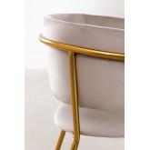 Nalon Style Velvet Dining Chair , thumbnail image 5