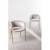 Nalon Style Velvet Dining Chair , thumbnail image 1