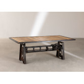 Elevating Dining Table in Recycled Wood and Steel (200x100 cm) Jhod, thumbnail image 3