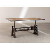 Elevating Dining Table in Recycled Wood and Steel (200x100 cm) Jhod, thumbnail image 4
