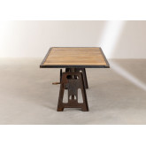 Elevating Dining Table in Recycled Wood and Steel (200x100 cm) Jhod, thumbnail image 5