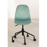 Glamm Velvet Office Chair, thumbnail image 4