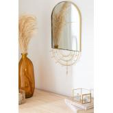 Wall-Mounted Jewelry Mirror in Metal Loan, thumbnail image 1