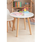 Round table in beech wood and MDF (Ø60 cm) Nordic Kids , thumbnail image 1
