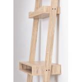 Pine & Fir Wood Desk with Shelves Zina , thumbnail image 3