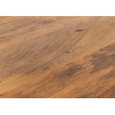 Foldable Recycled Wood  & Steel Dining Table(200x100 cm) Fer, thumbnail image 5