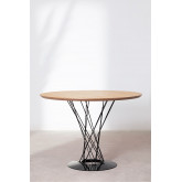 Round MDF Dining Table & Steel (Ø100 cm) Laho, thumbnail image 1