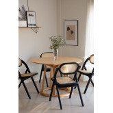 Wooden Foldable Dining Chair Sia , thumbnail image 2