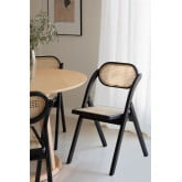 Wooden Foldable Dining Chair Sia , thumbnail image 1