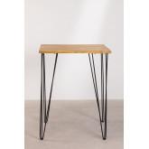 Square High Table in Mango Wood (80x80 cm) Meriem, thumbnail image 3
