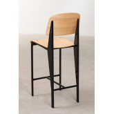 High Stool with Wooden Backrest (67 cm) And, thumbnail image 4