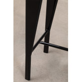 High Stool with Wooden Backrest (67 cm) And, thumbnail image 6