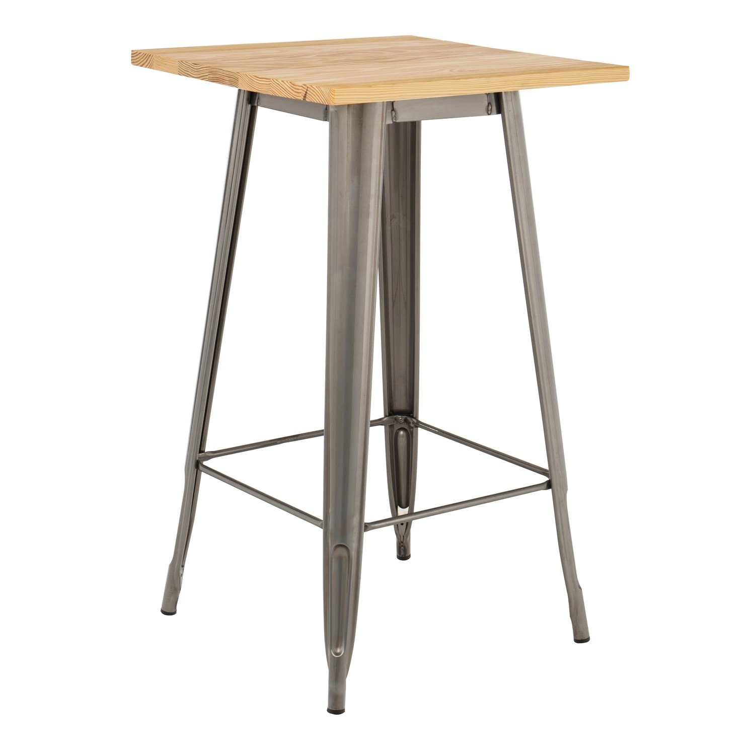 Brushed Wooden LIX High Table, gallery image 1