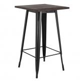 Vintage Wooden LIX High Table, thumbnail image 1