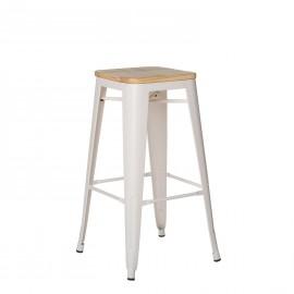 Wooden Matte Lix Bar Stool