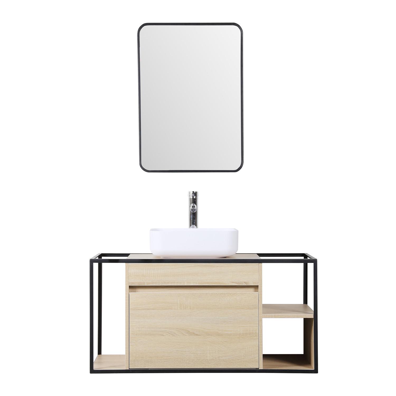 Silvy 100 Bathroom Vanity Set with Mirror, gallery image 1