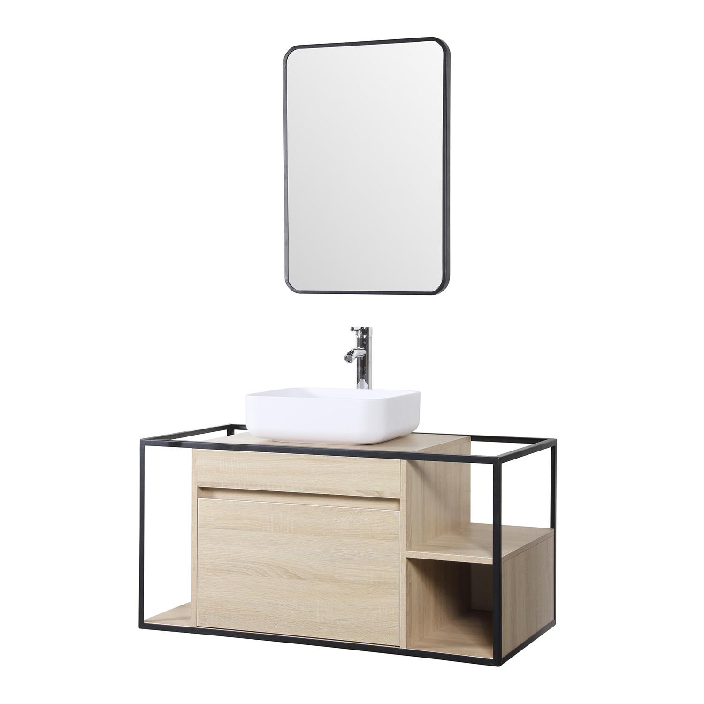 Pleasing Silvy 100 Bathroom Vanity Set With Mirror Sklum Download Free Architecture Designs Scobabritishbridgeorg