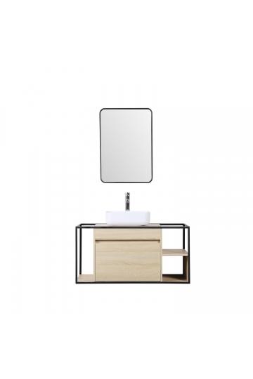 Silvy 100 Bathroom Vanity Set with Mirror