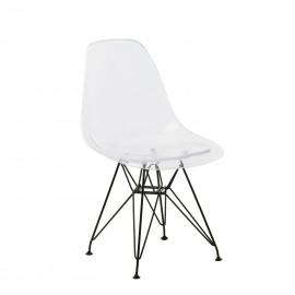 Transparent Metal DSR Chair