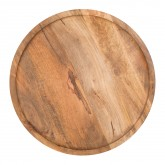 Round Auxiliary Nesting Table in Recycled Wood & Steel Ound , thumbnail image 3