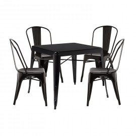 Pack of 4 LIX Chairs & 1 LIX X Table (80x80)