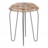 Phân Low Stool in Bamboo and Steel , thumbnail image 1