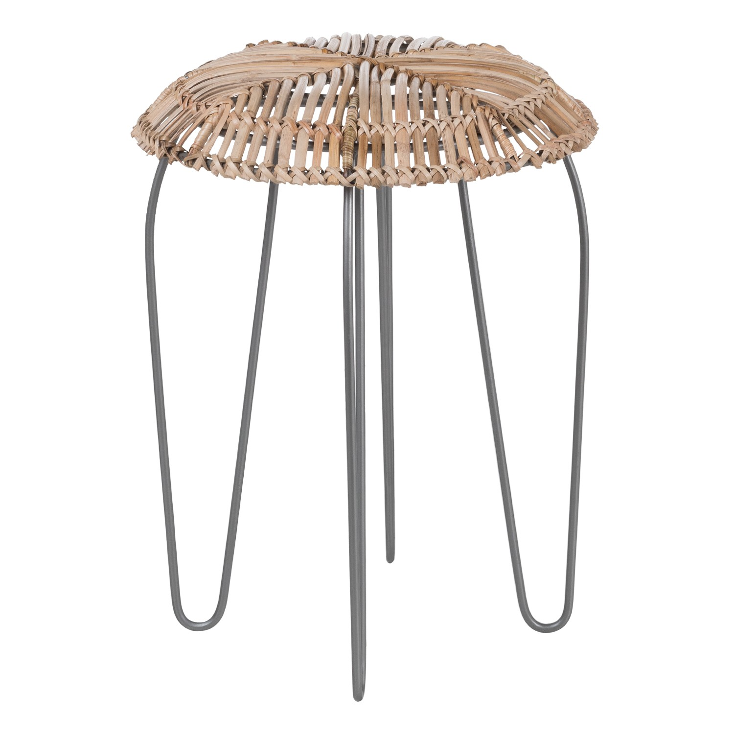 Phân Low Stool in Bamboo and Steel , gallery image 1
