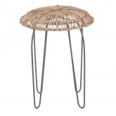 Phân Low Stool in Bamboo and Steel , thumbnail image 2