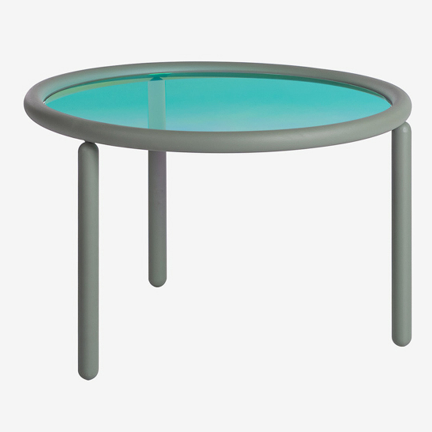 Disk Iridescent Side Table, gallery image 1