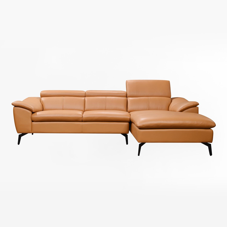 Chaise Longue Sofa in Lugh Leatherette - SKLUM