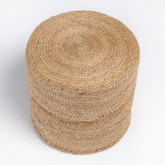 Round Pouffe in Jute Fime, thumbnail image 4