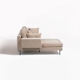 4 Seater Chenilla Chaise Longue Sofa Agon , thumbnail image 3