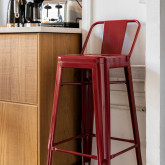 High Stool with LIX Steel Backrest, thumbnail image 6