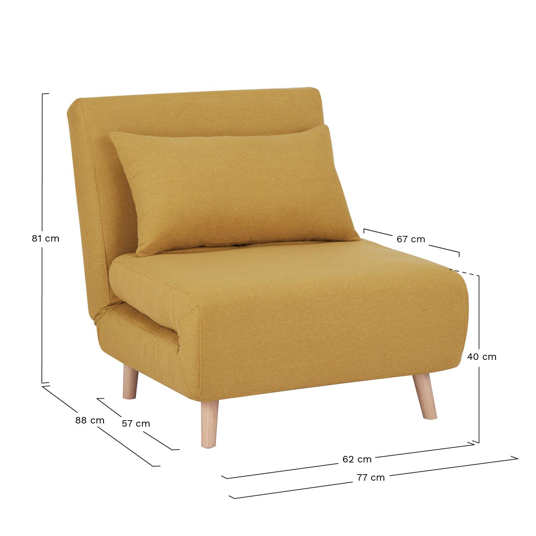 Elen Single Sofa Bed in Fabric   SKLUM