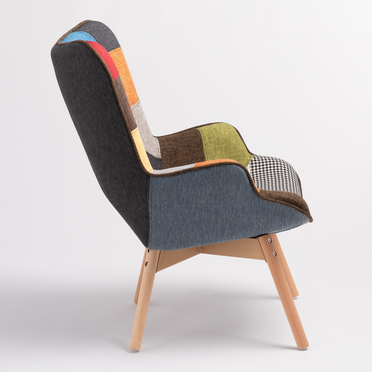 Morris Armchair with Upholstered Patchwork - SKLUM