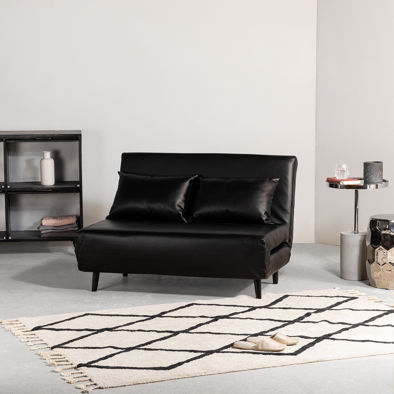 2 Seater Elen Leatherette Sofa Bed   SKLUM