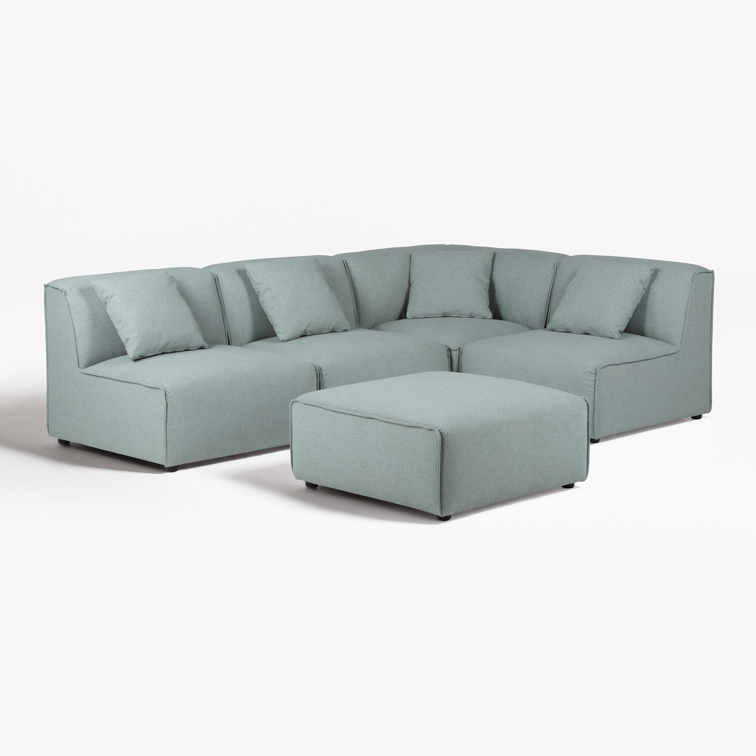4 seater Modular Sofa & Pouffe Aremy, gallery image 1