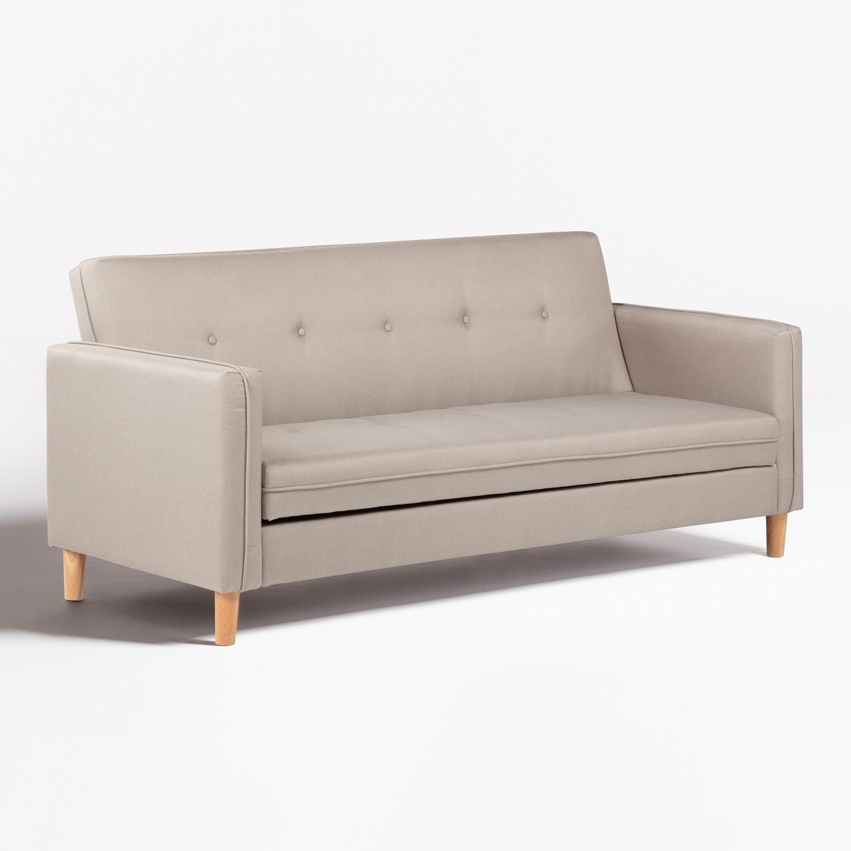 Hasper Linen 3 Seater Sofa Bed, gallery image 1